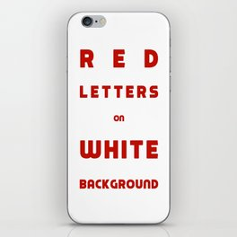 Red on White iPhone Skin