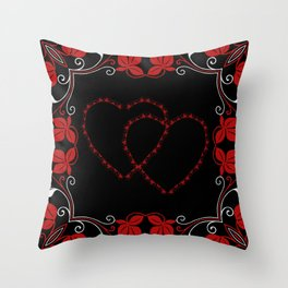 Hearts Entwine Throw Pillow