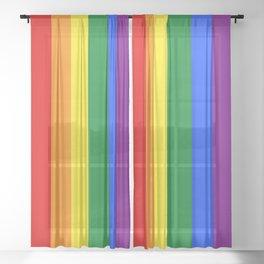 LGBTQ+ Pride Flag Sheer Curtain
