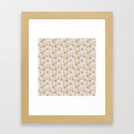 Colourful Flower Medley on Cream Framed Art Print