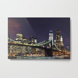Deep City Lights Metal Print