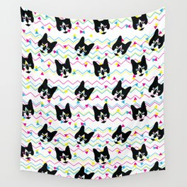 CMYK Cat Pattern Wall Tapestry