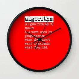Algorithm computer scientist gift idea Wall Clock