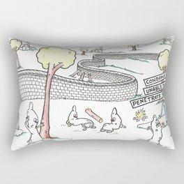 Condoms Cannot Break that Wall Rectangular Pillow