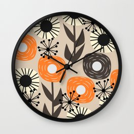 Some happy flowers Wall Clock