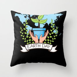 Earth Day April 22 Throw Pillow