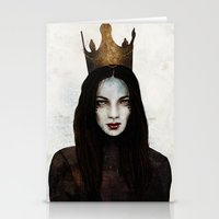 queen Stationery Cards featuring Queen by Feline Zegers