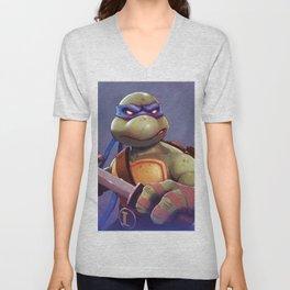 Leonardo Teenage Ninja Mutant Turtles by Big Foot Studios Unisex V-Neck