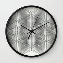 Optical Vibrations in Black and White Wall Clock