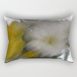 blur flowers Rectangular Pillow