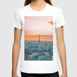 Sunset in Paris (Color) T-shirt
