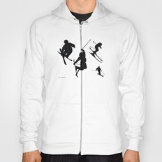 Skiing silhouettes Hoody