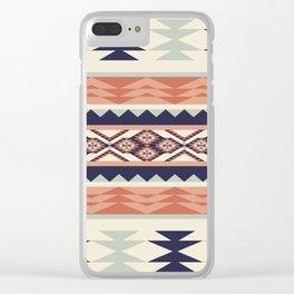 Native American Geometric Pattern Clear iPhone Case