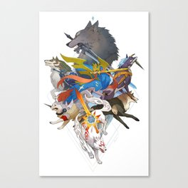 Dogs With Swords Canvas Print
