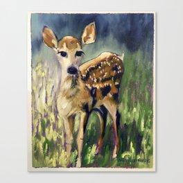 Here I am Deer Canvas Print