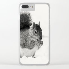 Squirrel Animal Photography Clear iPhone Case