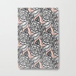 rose flowers pattern Metal Print