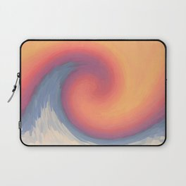 Abstract ocean perfect wave and sky Laptop Sleeve