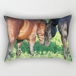 couple of horses Rectangular Pillow