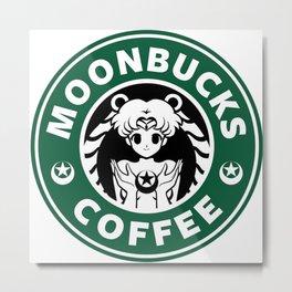 Moonbucks Coffee Metal Print