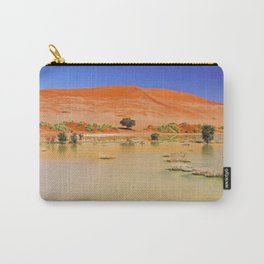 Water in the Namib desert after rain season, Namibia Carry-All Pouch