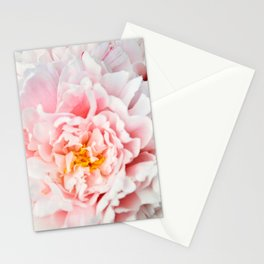 Peony Flower Photography, Pink Peony Floral Art Print Nursery Decor A happy life - Peonies 2 Stationery Cards