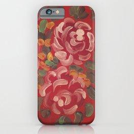 Gypsy Caravan Red Rose iPhone Case
