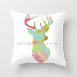 Listen for the Magic Throw Pillow