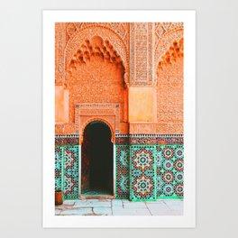 marrakech doorway Art Print