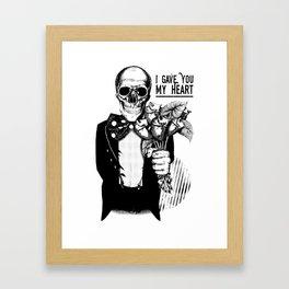 I Gave You My Heart Framed Art Print