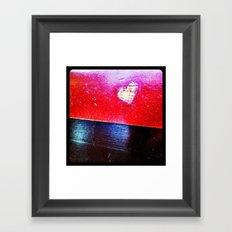 Food court heart. Framed Art Print