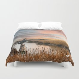 Sunset in the Wetlands Duvet Cover