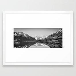 Lake Ohau Reflection Framed Art Print