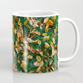 Red And Orange Autumn Leaves Background In Fall Season, Autumn Season, Fall Background, Falling Leaf Coffee Mug