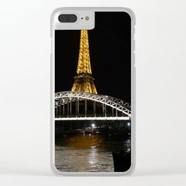 Eiffel Tower At Night 7 Clear iPhone Case