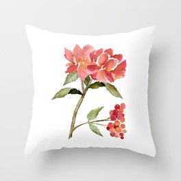 Rose Gold Colored Glasses Throw Pillow