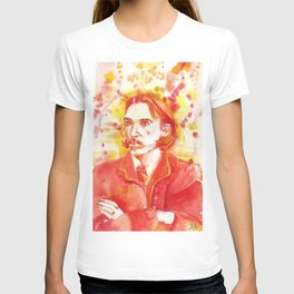 ROBERT LOUIS STEVENSON - watercolor portrait.2 T-shirt