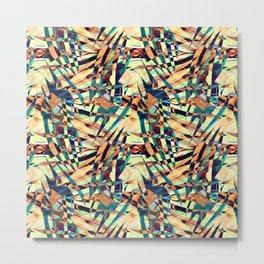 Wild Geometric Party Abstract Geo Pattern Metal Print