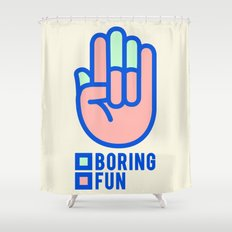 BORING N0.1 Shower Curtain