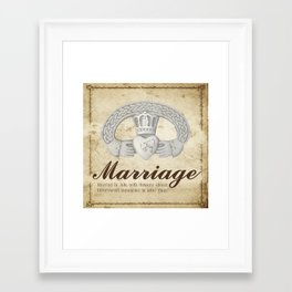 July Marriage Framed Art Print