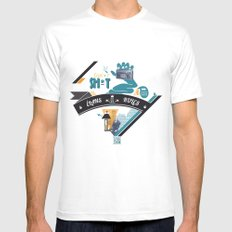 L. MEDIUM Mens Fitted Tee White