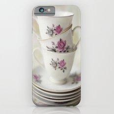 tea leaves tea loves loves tea lives tea leaves tea? never. iPhone 6s Slim Case