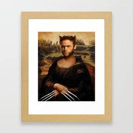 Hugh Jackman Mona Lisa Face Swap Framed Art Print