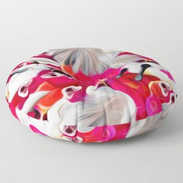 Pink and White Delight Floor Pillow