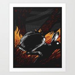Run Rabbit Art Print