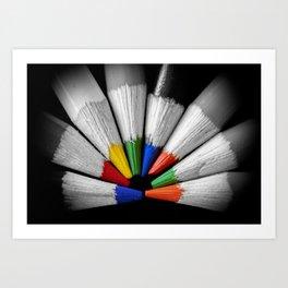 Colour Your Walls Art Print