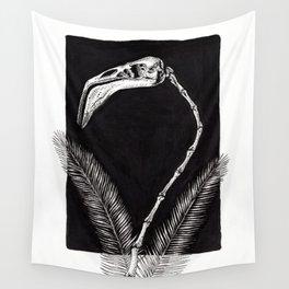 Flamingo Skeleton Wall Tapestry
