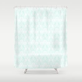Miami Beach Motel- Mint Shower Curtain