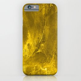 Simple Faux Gold Glittery Grunge Background iPhone Case