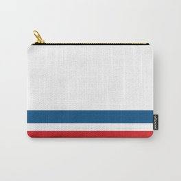 McQueen – Red and Blue Stripes Carry-All Pouch